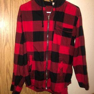 H&m flannel sweatshirt